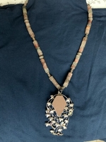 Used Necklace with silver pendant earthy  in Dubai, UAE