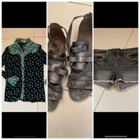 Used Shirt ans shorts offer-shoes Free  in Dubai, UAE