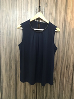 Used Preloved G2000 Blouse Size 38 Dark Blue in Dubai, UAE