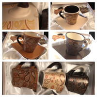 Used 2 sets of cups+saucer read description  in Dubai, UAE