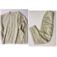 Used Set of pullover and pants -wool-size m in Dubai, UAE