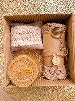 Used Gift box (natural candle with coster)  in Dubai, UAE