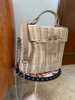 Used Bershka straw bag in Dubai, UAE