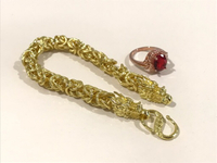 NEW Dragon Bracelet & Ruby Gold Ring