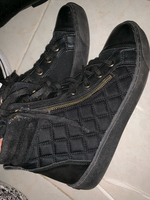 Used Black and gold quilted high top shoe in Dubai, UAE