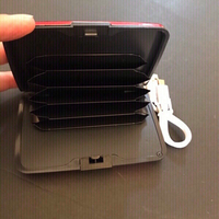 Automatic charger wallet red