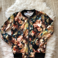 Used Floral jacket size M  in Dubai, UAE
