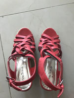 Used Coral colored wedges  in Dubai, UAE
