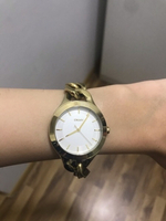 Used DKNY round gold chain watch unisex 36mm in Dubai, UAE