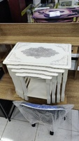 Used TURKISH NEST OF 4 TABLES WHITE SBF-NT224 in Dubai, UAE