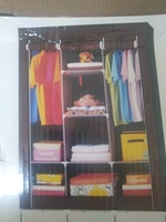 Used Wardrobe - fabric - 3 partition - clothe in Dubai, UAE
