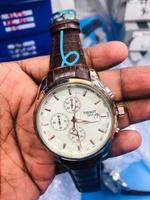 Used Tissot brown leather strap mens watch in Dubai, UAE