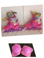 Used Girl skates with knee pads safety 💕 in Dubai, UAE