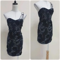 Used Brand new black Italian short dress * in Dubai, UAE