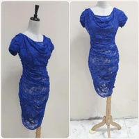 Used Blue lace dress for lady * in Dubai, UAE