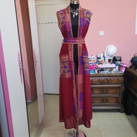 Used Printed long red cardigan in Dubai, UAE