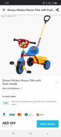 Used Disney Mickey Mouse Trike with Push Hand in Dubai, UAE