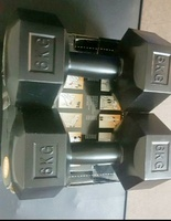 Used 6kg Dumbbells pair PVC coated in Dubai, UAE