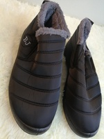 Used Black warm snow boots - size 40 in Dubai, UAE