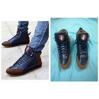 Used Warm Cotton Men Leather Boots shoes in Dubai, UAE