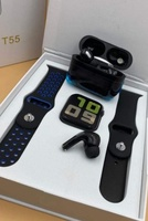 Used T55 SMARTWATCH WITH AIRPODS ELE1 in Dubai, UAE