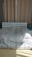Used King size bed with medical mattress in Dubai, UAE