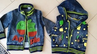 Used Boys Nice Jeans set Jacket+Vest in Dubai, UAE