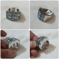 Used Authentic silver Ring size-8 New** in Dubai, UAE