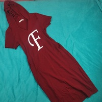 Used Maroon color dress with side buckets in Dubai, UAE