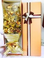 Used 24k handcrafted gold rose bouquet in Dubai, UAE