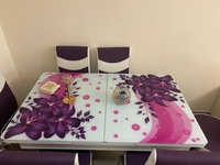 Used Purple dining table and chairs in Dubai, UAE
