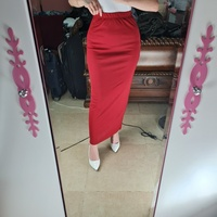 Used Red midi skirt with back small slit in Dubai, UAE