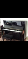 Used Yamaha upright piano black in Dubai, UAE