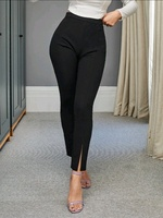 Used Black pants with front slits in Dubai, UAE