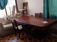 Used One long dining table with 8 chairs and in Dubai, UAE