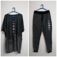 Used Tracksuit sportswear moon printed size L in Dubai, UAE