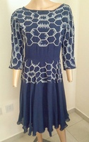 Used Razan Alazzouni embellished silk dress in Dubai, UAE