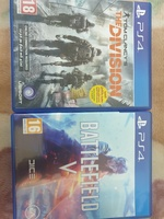 Used Battlefield v + the division ps4 in Dubai, UAE