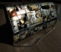 Used Vogue magazine print Fashion Clutch in Dubai, UAE