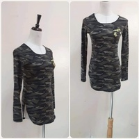 """Used Army top for lady""""free size stretchable* in Dubai, UAE"""
