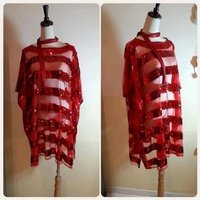 """Used Brand new red top""""fashionable free size* in Dubai, UAE"""