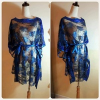 """Used Brand new blue""""Top free size stretchable in Dubai, UAE"""