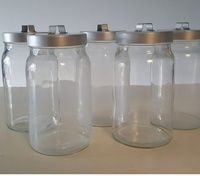 Used 2 IKEA glass jar in Dubai, UAE