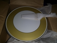 Used Cake plate with spoon brand new in Dubai, UAE