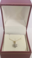 Used 10K Gold with 7 Diamonds new necklace in Dubai, UAE