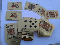 Used Luxury 24k Gold foil poker playing card in Dubai, UAE