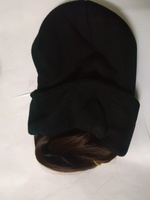 Used beautiful wig hat Dark brown straight. in Dubai, UAE