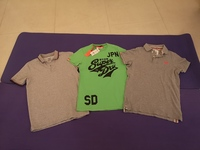 Used Three Men's Shirts Size S-M  Mix Brand in Dubai, UAE