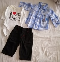 Used Jeans, body and shirt new born in Dubai, UAE