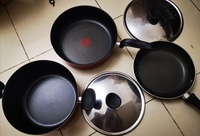 Used Tefal Non stick cookware & sauce pan in Dubai, UAE